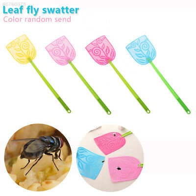 7FC3 Fly Swatter Economic Portable Pest Kitchen Outdoor Home Leaf Plastic
