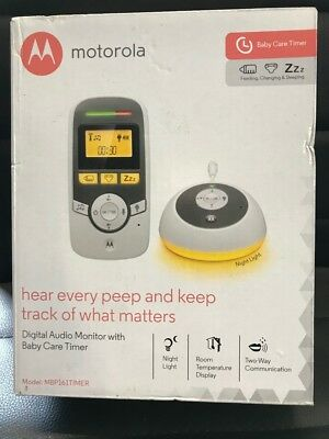 Motorola MBP161 Digital Audio Monitor With Baby Care Timer.