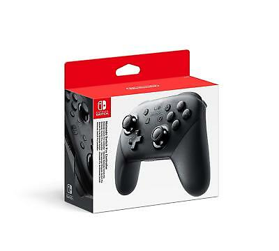 Genuine Official Nintendo Switch Pro Controller Black Wireless
