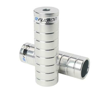 Haro Fusion CNC Machined Alloy Pegs PAIR Silver Old Mid School BMX Freestyler