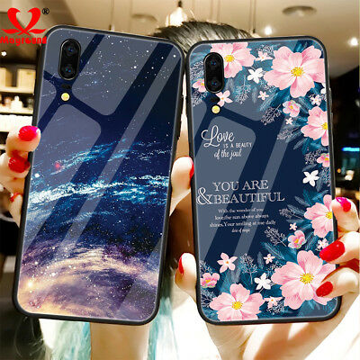 3D Painted Luxury Temper Glass Hard Case Cover For Huawei Mate 20 P20 Pro/Lite