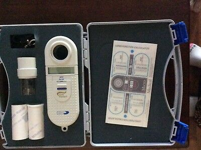 WOW Handheld Spirometer Lung Volume Pulmonary Tester with Mouthpieces NEW