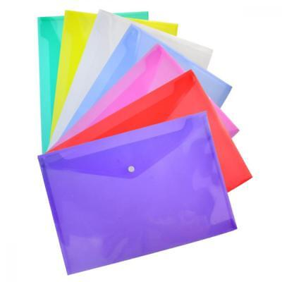 35 Packs Transparent Poly Envelope, Bantoye A4 Document Folder with Snap...