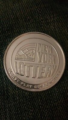 New York Lottery Scratcher Coin