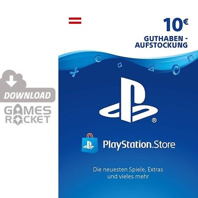 10€ PSN AT Playstation Network Code Card 10 Euro € EUR PS4, PS3, Vita Guthaben