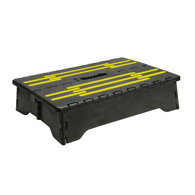 Mobility Riser Half Step - Slip Resistant  Indoor / Outdoor Use - Black & Yellow
