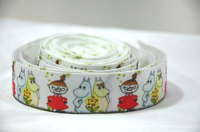 """MOOMIN SNORK MY LITTLE Ribbon 1 Metre 25mm 1"""" Craft Cake Party Gift Wrap Hair"""