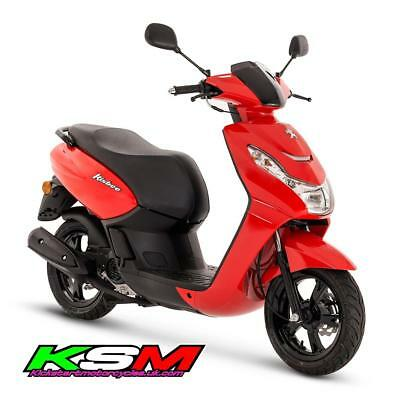 Brand New 2019 Peugeot Kisbee 50 Scooter Flat Red