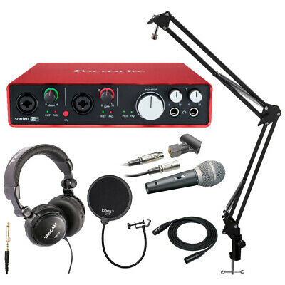Focusrite Scarlett 6i6 USB Audio Interface with Mic and Accessory Bundle
