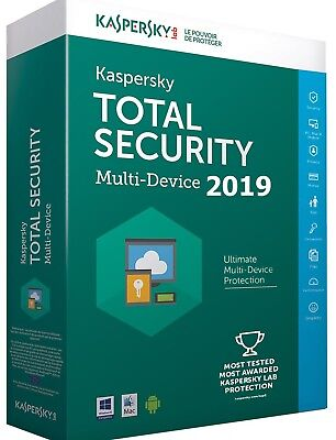 Kaspersky Total Security 2019 Nueva Versión - 5 PCs - Multilenguaje