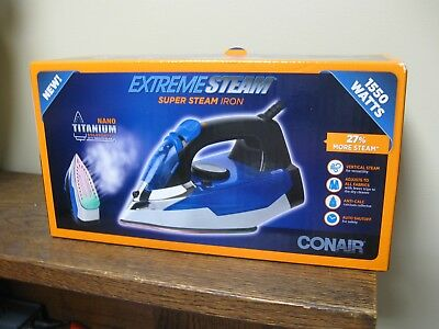 New! Conair 1550 Watt Extreme Steam Super Steam Iron