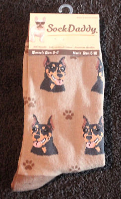 Doberman Pinscher Dog Breed Lightweight Stretch Cotton Adult Socks
