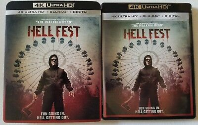 Hell Fest 4K Ultra Hd Blu Ray 2 Disc Set + Slipcover Sleeve Free World Shipping