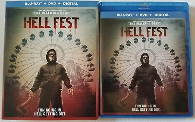 Hell Fest Blu Ray Dvd 2 Disc Set + Slipcover Sleeve Free Worldwide Shipping