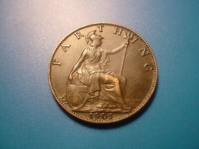 British 1901 Farthing In Excellent Condition