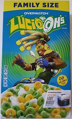 New Kellogg's Overwatch Lucio Oh's Vanilla Flavored Cereal 18.7 Oz Free Shipping