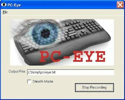 PC-Eye Software Key Logger for Windows Records all key strokes on PC computer
