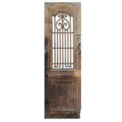 """29"""" French Colonial Door with Iron Insert, NED854"""