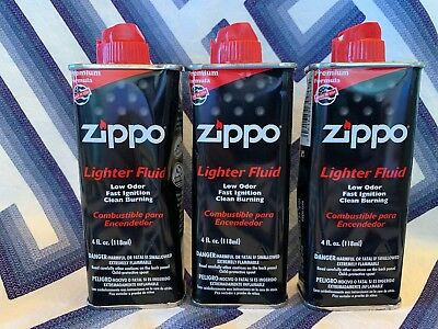3 Pack Can Zippo 4 oz Fuel Fluid For Zippo Lighters