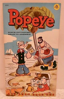 Vintage 1961 Golden Funtime King Features Punch-Out Book Popeye