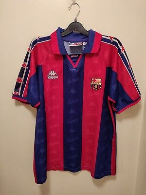 857a626f5f0 Kappa Barcelona 1995 - 1997 Home Football Shirt Camiseta Maillot Trikot