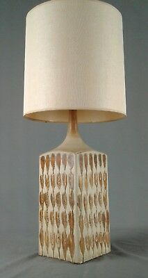 Vintage Drip Glaze Ceramic Lamp - Mid Century Danish Modern Studio Pottery Light