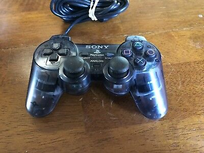 Sony PlayStation 2 Dualshock 2 Controller Analog Smoke Gray Clear OEM Tested