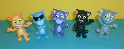 2016 Mcdonalds Talking Tom Cat Lot Of 4 Happy Meal Toys Cake Toppers