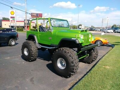 1992 YJ -LIME GREEN 4X4-FRAME OFF RESTORATION-COYOTE ENGIN 1992 Jeep YJ for sale!