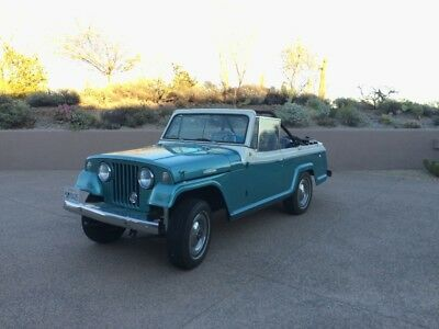 1967 Jeepster - CONVERTIBLE - CLASSICS JEEP FUN -VIDEO Teal / White Jeep Jeepster with 97,131 Miles available now!