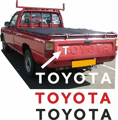 Toyota Hilux pick up 1988-2005 Raised pressed letter Overlay Decals Stickers