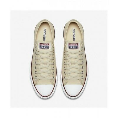 9c8f9346f8d8 Mens Converse Shoes All Star Chuck Taylor LOW Top OX Unbleached White M9165