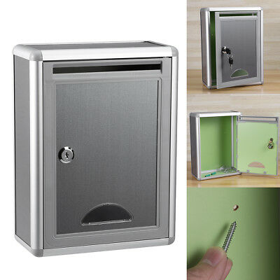 1pc Suggestion Box Aluminium Alloy Post Box for Community Firm Company With Lock