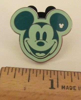 2008 Disney Trading Pin Hidden Mickey Mouse Face Green Limited Edition 3 of 5