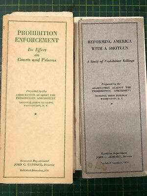 Collection of 19 Vintage Anti-Prohibition Pamphlets from 1929 - 1932