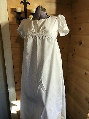 1812 Neapolitan Jane Austen regency empire waist colonial Gown