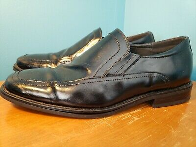 65a8b14f3bf Stacy Adams Mens Black Leather Felton Slip On Dress Casual Loafer Size 10.5