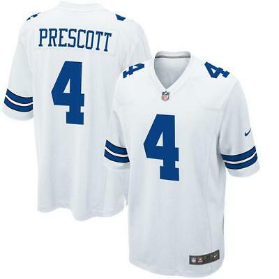 Dak Prescott White Men's Game Jersey