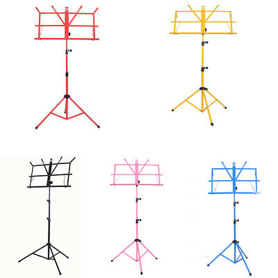 Heavy Duty Metal Adjustable Music Sheet Stand Holder Folding Tripod Base