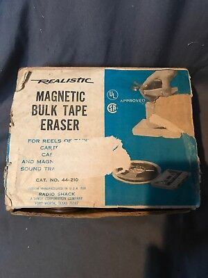 Magnetic Bulk Audio Video Tape Eraser Excellent In Box # 44-210 Usa Reel To Reel