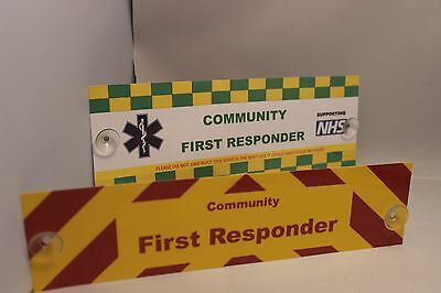 Ambulance Service Front and Rear Community First Responder Sign Charity Sale