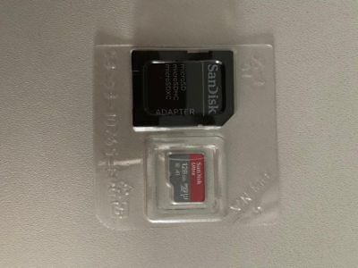SD MicroSD Card Karte SanDisk 128 GB Ultra A1 Class 10 inkl. Adapter