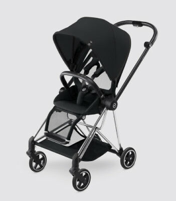 Cybex Mios Stroller - Chrome - with Stardust Black Seat Fabric New Free Shipping