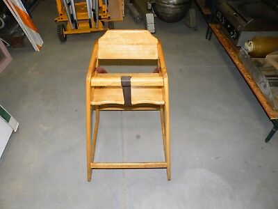 Wooden Restaurant High Chair