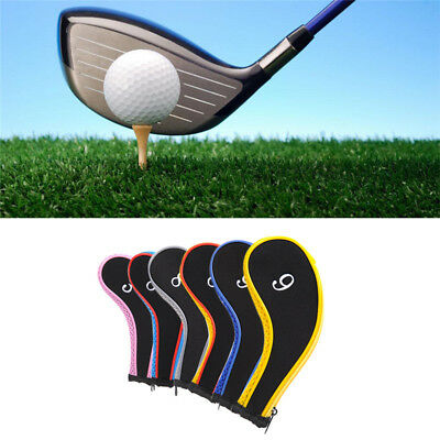 Zippered Golf Club Iron Covers Headcovers 10 PCS 3-9 Iron A SW PW Head Cover Set