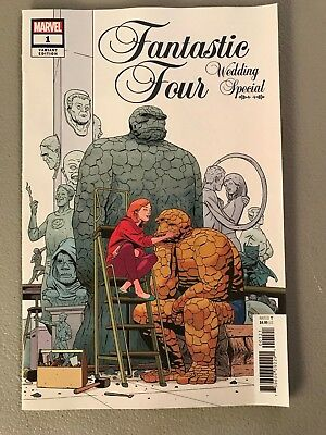 FANTASTIC FOUR WEDDING SPECIAL 1 1:25 MARTIN VARIANT Dan Slott Marvel The Thing