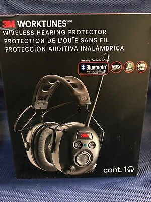 3M Worktunes Wireless Hearing Protection with Bluetooth Technology and AM/FM MP3
