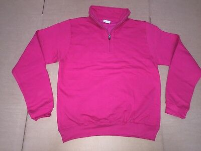 CLEARANCE New Mens AWDIs JH046 Sophomore Zip neck. Hot Pink L x 24. T42.