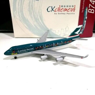 Herpa Cathay Pacific Spirit of Hong Kong 747-400 B-HOX 1/500 scale model plane