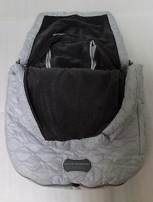 JJ COLE Urban BundleMe Silver Stroller Carseat Cover Infant Up to 21 lbs.
